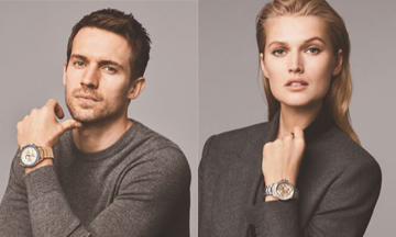 BOSS Watches unveils Toni Garrn and Andrew Cooper as face of campaign