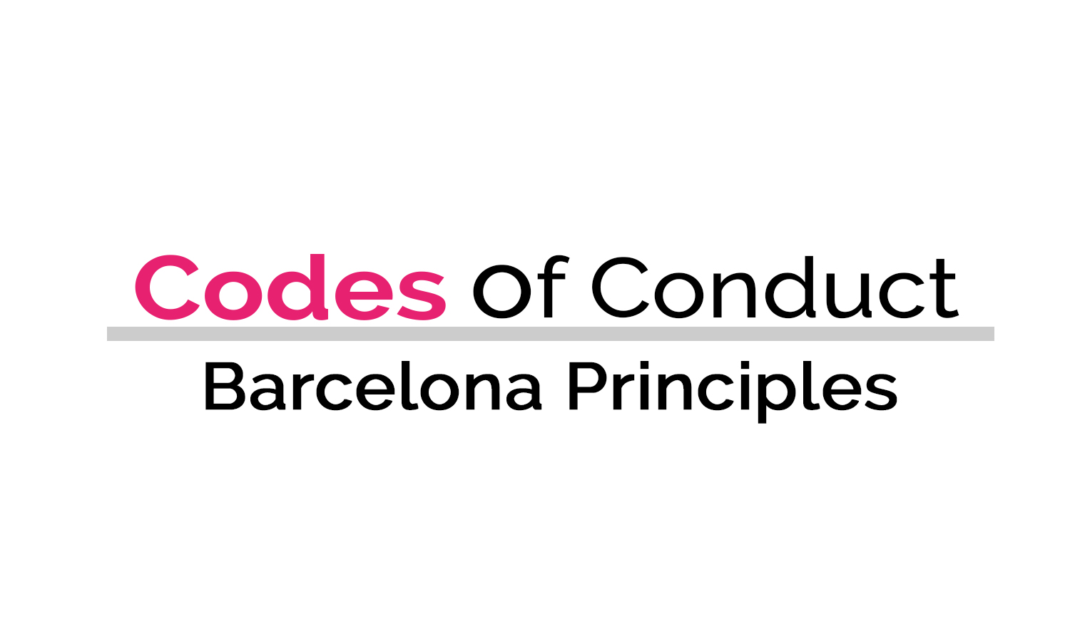 Industry codes of conduct - Barcelona Principles