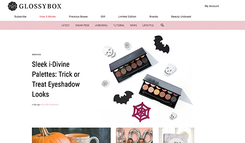 Christmas Gift Guide - GLOSSYBOX UK (124k Instagram followers)