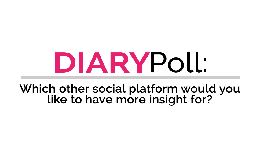 DIARY poll: Which social platform would you like to have more insight for?