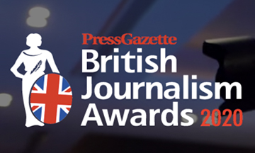 Entries open for the 2020 British Journalism Awards