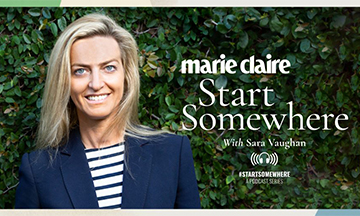 Marie Claire debuts podcast, Start Somewhere with Sarah Vaughen