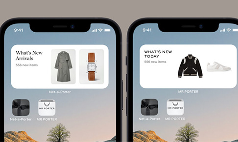 NET-A-PORTER and MR PORTER introduce iOS widgets