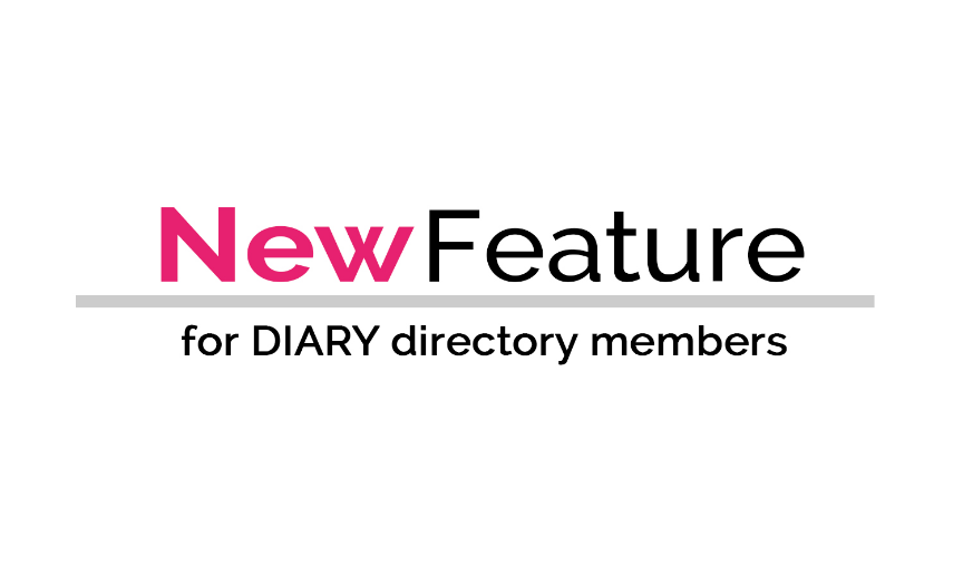 NEW feature for DIARY directory members - additional options for media titles contacts