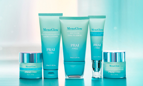 PRAI Beauty and M&S launch MenoGlow range for menopause