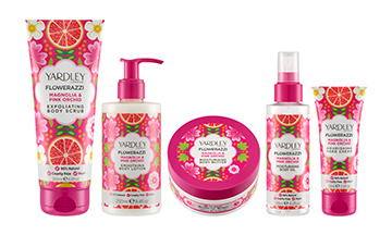 Yardley London unveils body range Flowerazzi