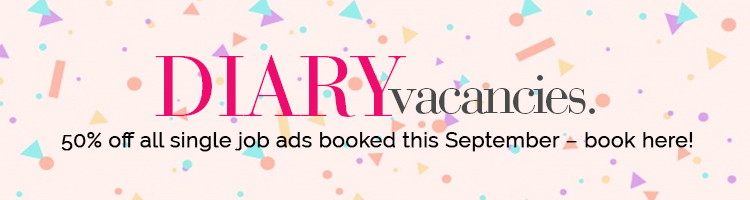 Half price recruitment ads when booked September 2018