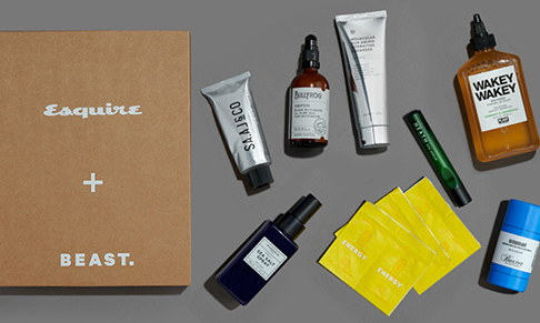 Esquire collaborates with BEAST. on male  grooming box
