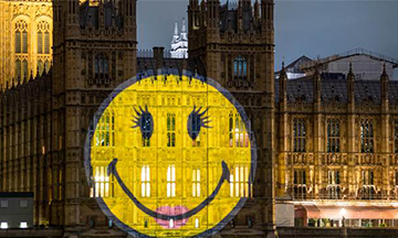 Ciate London collaborates with SmileyWorld and projects positivity message on House of Commons
