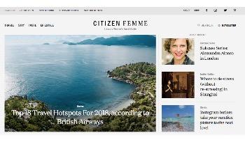 Luxury travel magazine Citizen Femme announces launch