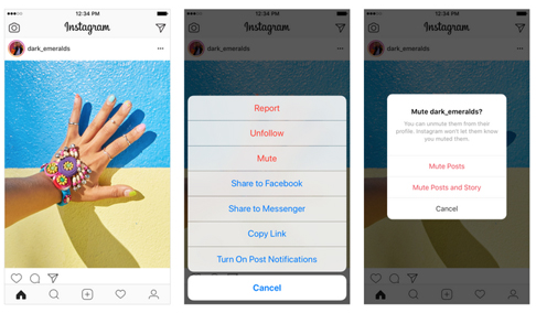 Instagram launches 'mute' button